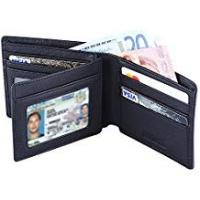 Wallets Hoobest RFID Blocking Genuine Leather Wallet for Men - Excellent as Travel Credit Card Case/Wallets/Protector - RFID Blocking Wallet