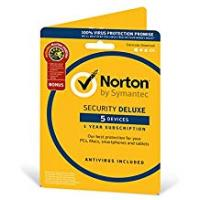 Antivirus Norton Security Deluxe 2018 | 5 Devices + Utilities| 1 Year | Antivirus included | PC/Mac/iOS/Android | Activation Code by Post
