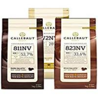 Chips [Sponsored]Callebaut, Milk, Dark & White chocolate chips (3 x 1kg Bundle)