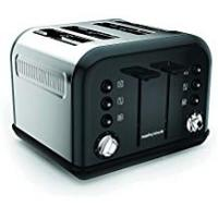 Toaster Morphy Richards Accents Special Edition 4 Slice Toaster, Black