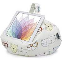 Tablet Bag With Stands iBeani iPad & Tablet Stand/Bean Bag Cushion Holder for All Devices/Any Angle on Any Surface - Cool Cats