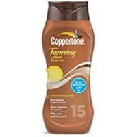 Coppertone Tanning Lotions Coppertone SPF 15 Water Resistant UVA/UVB Protecion Tanning Sunscreen Lotion, 10 Ounce by Coppertone