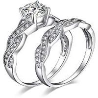 Engagement Rings JewelryPalace 1.5ct Infinity Cubic Zirconia Simulated Diamond Anniversary Promise Wedding Band Engagement Ring Bridal Sets 925 Sterling Silver