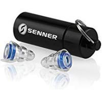 Hearing Protection Senner MusicPro hearing protection earplugs for concerts, music, festivals and clubs, with aluminium box, blue/transparent