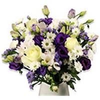 Flowers [Sponsored]Fresh Flowers Delivered Next Day - FREE UK Delivery & Handwritten Card - Beautiful Blue Bouquet of Flowers - Arranged by a Skilled Florist and Presented in Luxury Packaging - Great Birthday, Thank You, Get Well, Anniversary or Sympathy Gift