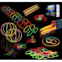 Glow Sticks JOYIN Toy 200 8'' Glowsticks Glow Sticks Bracelets Glow Necklaces Party Favors Pack (7 Colors Total 456 Pcs)
