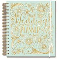 Weddings Wedding planner, duck egg blue, perfect engagement gift with sections, checklists and pockets for a wedding by Rachel Ellen