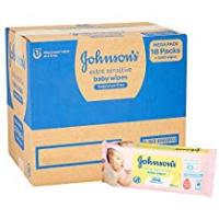 Baby Products Johnson's Baby Extra Sensitive Fragrance Free Wipes - Pack of 18, Total 1008...