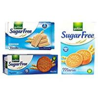 Snacks For Diabetics Sugar Free Cookie Biscuits Selection 3 Boxes Vanilla Wafers, Digestives, Maria. Gullon Set 2