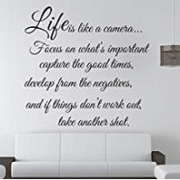 Quotes Life is Like a Camera - Wall Decal Quote Wall Saying Wall Vinyl Stickers by Himanjie