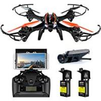 Long Range Drone WiFi FPV Drone with 720P HD Camera - UDI U842 Predator - RC Quadcopter with Headless Mode and Low Voltage Alarm - 2 Batteries 4GB TF Card