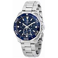Tag Heuer Watches TAG Heuer Men's Aquaracer 43mm Steel Bracelet & Case Quartz Blue Dial Analog Watch CAY111B.BA0927