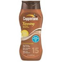 Coppertone Tanning Lotions Coppertone Tanning Lotion Sunscree 8 fl oz (237 ml) (Pack of 2, SPF 15) by