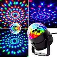 Discos [Sponsored]Mini stage lights, EJBOTH Magic ball lamp RGB LED stage effect Rotating Party Light crystal ball Sound Activated + Remote Control Atmosphere Bulb for Disco KTV Xmas Bar Club Christmas DJ Pub [UK Plug]