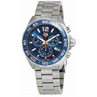 Tag Heuer Watches TAG Heuer Men's Formula 1 43mm Steel Bracelet & Case Quartz Blue Dial Analog Watch CAZ1014.BA0842