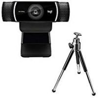 Logitech C922 Pro Stream Webcam, Full HD 1080p Streaming with Tripod and Free 3-month XSplit License - Black