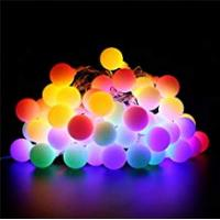 Christmas Lights BlueFire 31ft 50 LED Globe String Lights Plug In with Remote Control Timer 8 Lighting Modes Decorative Lighting for Home/Wedding/Christmas(Multi-color)