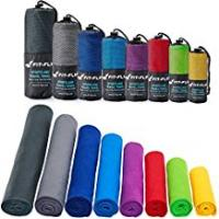 Gyms Fit-Flip Microfibre Towel in 12 Colours + Bag – small, lightweight and ultra absorbent – Microfibre Travel Towel, Beach Towel, Micro Towel, Sport Towel, Large XL Gym Towel