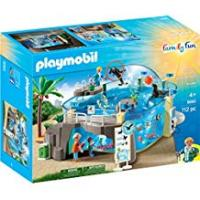 Aquariums Playmobil 9060 Family Fun Aquarium with Fillable Water Enclosure