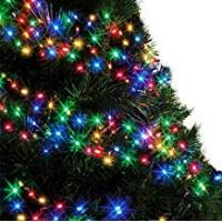 Christmas Lights Cluster Lights 480 LED Multi Color Tree Lights Indoor and Outdoor use Christmas String Lights 8 Modes with Memory & Timer function, Mains Powered Fairy Lights 6m/20ft Lit Length with 10m/33ft Lead Wire GREEN CABLE - 2 Year Warranty