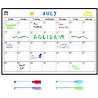 Calendar Magnetic Fridge Whiteboard Calendar by Smart Panda - Perfect Month Planner, Memo or Event Reminder for Adults And Children - Easy To Write And Wipe With Strong Magnet - Notice Board Includes 4 Free Colour Dry Erase Markers - Monthly
