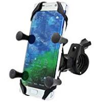 Motorcycle Accessories MOTOPOWER MP0609B Bike Motorcycle Cell Phone Mount Holder- For any Smartphone & GPS - Universal Mountain & Road Bicycle Motorcycle Handlebar Cradle Holder