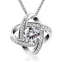 Necklaces B.Catcher Women Necklaces Sterling Silver Cubic Zirconia Pendant Gemini Necklace