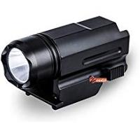 Handguns zeadio CREE LED Flashlight Torch [5 Year Warranty], with 3-Mode(Strobe, Normal, Highlight) and Quick-detachable Picatinny/Weaver adapter for Pistols Handgun, FLT-01F