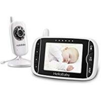 Baby Monitor With Temperature Nights [Sponsored]HelloBaby HB32 Wireless Video Baby Monitor with Digital Camera, 3.2 Inch Screen Night Vision Temperature Monitoring & 2 Way Talkback System UK Interface Plug, White