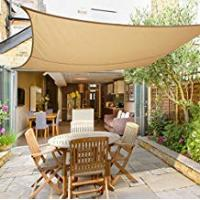 Canopies Greenbay Sun Shade Sail Outdoor Garden Patio Yard Party Sunscreen Awning Canopy 98% UV Block Rectangle Sand With Free Rope(3x2m)