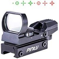 Red Dot Sights [Sponsored]Pinty Red Green Dot Sight Reflex Holographic Tactical Riflescope 4 Reticle Patterns With 20mm Free Mount Rails Black