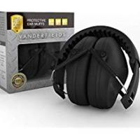 Hearing Protection Ear Defenders – Compact Foldable Comfortable & Adjustable Hearing Protection – Ear Protectors Shooting Ear Muffs – Great for Men Women Adults Kids Children - Noise Reduction for Construction & Yard Work Loud Noises Mowing the Lawn Concert Fireworks Drums Autism Meditation – 2 Years Warranty - Black