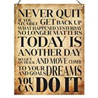 Quotes [Sponsored]Dorothy Spring Never Quit You Can Do It Inspirational Quote Plaque Metal Sign Size 15x20cm