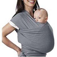 Baby Slings Lictin Baby Wrap Carrier Adjustable Breastfeeding Cover Cotton Sling Baby Carrier for Infants up to 35 lbs/16kg, Soft and Comfortable (Dark Gray)