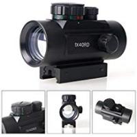 Red Dot Sights Pinty Tactical Red & Green Dot Sight 1x40mm Reflex Riflescope with Free 20mm Mount Rails