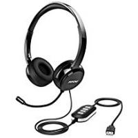 Headsets Mpow PC Headset, Multi-Use USB Headset & 3.5mm Skype Headset Chat Headset Office headset Gaming Headset VOIP Headset In-line Control for Mac PC Mobile Phone (Built-in Noise Reduction Sound Card)
