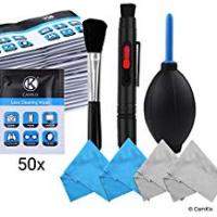 Blower Brushes Camera Lens Cleaning Kit - Air Blower, Cleaning Brush, 2in1 Lens Cleaning Pen, 50 Individually Wrapped Wet Tissues and 4 Microfiber Cloths - Keeps Your DSLR, Compact Camera or Action Camera Lens Spotless