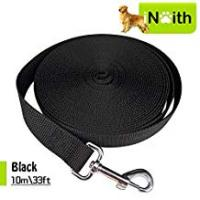 Dog Leashes Dog Leads Training Leash for Camping Tracking Training Obedience Backyard Play 10m 33ft Long Nylon (Black)