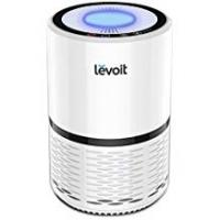 Air Purifiers Levoit Air Purifier with True HEPA & Active Carbon Filters, Compact Purifiers Filtration with Night Light, No Ozone, PM Eliminator Cleaner for Allergies, Home, Pets Dander, Smokers, Cooking, LV-H132