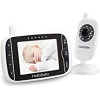 Baby Monitor With Temperature Nights HelloBaby Wireless Video Baby Monitor with Digital Camera, Night Vision Temperature Monitoring & 2 Way Talkback System, White (HB32)