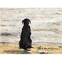 Print Art Group The Sam Toft Black Dog Going Home Canvas Print, Cotton, Multi-Colour, 1.8 x 30 x 40 cm