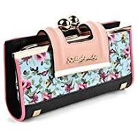 Purses Sally Young Lady Women Retro Purses Floral Butterfly Pattern Buckle Wallets Card Holder Bag Gifts