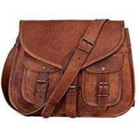 Leather Bags KPL 14 Inch Leather Purse Women Shoulder Bag Crossbody Satchel Ladies Tote Travel Purse Genuine Leather