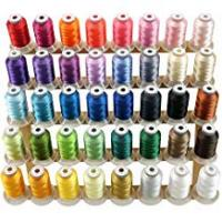 Sewing Threads for Quilting, Sewing, and Embroidery New brothread 40 Brother Colours Polyester Machine Embroidery Thread Kit 500M (550Y) Each Spool for Brother Babylock Janome Singer Pfaff Husqvarna Bernina Embroidery and Sewing Machines