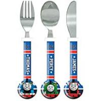Engines Thomas the Tank Engine Cutlery Set, 3 piece, Knife/Fork/Spoon, Blue Multi-Colour