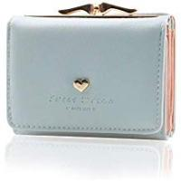 Purses Women's Wallet Purses - KQueenStar Leather Wallet Women Credit Card Holder Ladies Purse Clutch Holder Case With Heart-Shaped Metal Buckle Gift