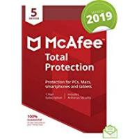 Antivirus McAfee 2019 Total Protection, 5 Devices, PC/Mac/Android/Smartphones [Download]