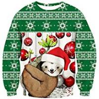 Couples Apparel Friend Hoodies For Girls uideazone Unsiex Ugly Christmas Pullover Sweatshirts 3D Print Novelty Xmas Elf Long Sleeve Tshirt