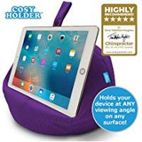 Tablet Bag With Stands COSY HOLDER® - Pumpkin Beanbag Cushion - Tablet & E-Reader (e-book) holder/stand. Ideal for iPad, Samsung Galaxy, Kindle & Books. Holds your device at ANY viewing angle. Ideal for home or travel (Purple)