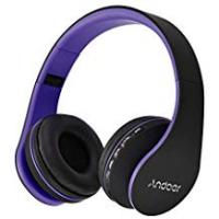 Andoer Headset Pcs Andoer Foldable Bluetooth Headphone Over-ear Headphone Stereo Music Headsets Wireless & Wired 2 in 1 Earhone Hands-free with Mic Support TF Card FM Radio for Smart Phones Tablet PC Notebook